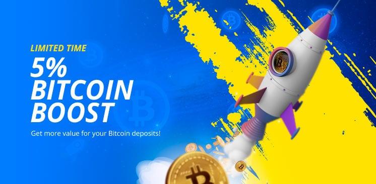 5% Bitcoins